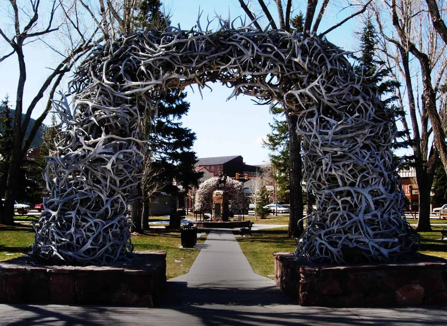 Elk Antler Arch in downtown Jackson Hole, Wyoming