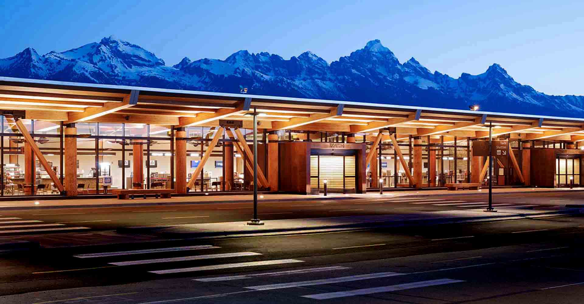 The newly renovated Jackson Hole Aiport