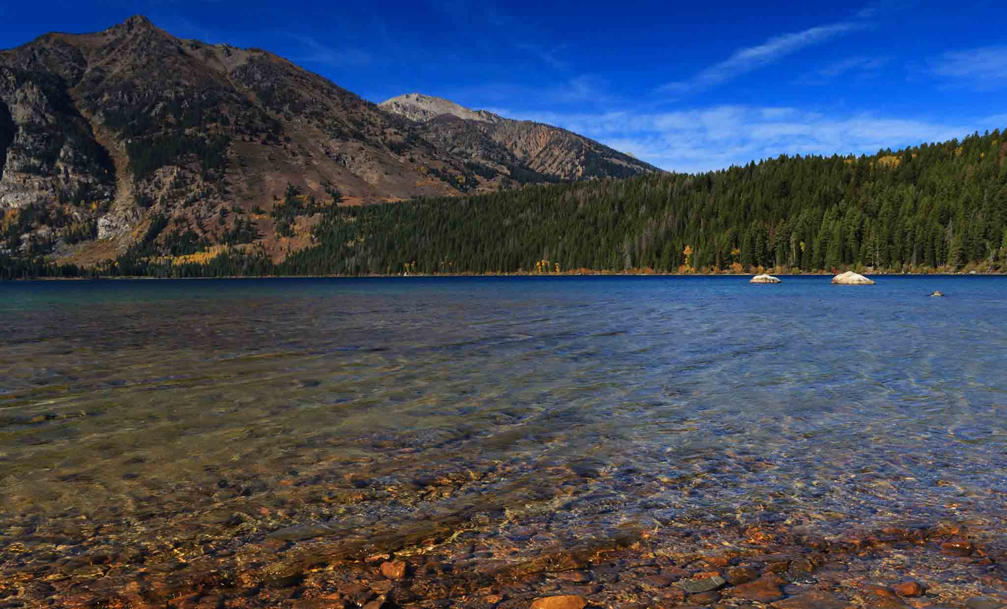 String Lake, Jenny Lake and Jackson Lake are just a few of the breathetaking water bodies in the Tetons.