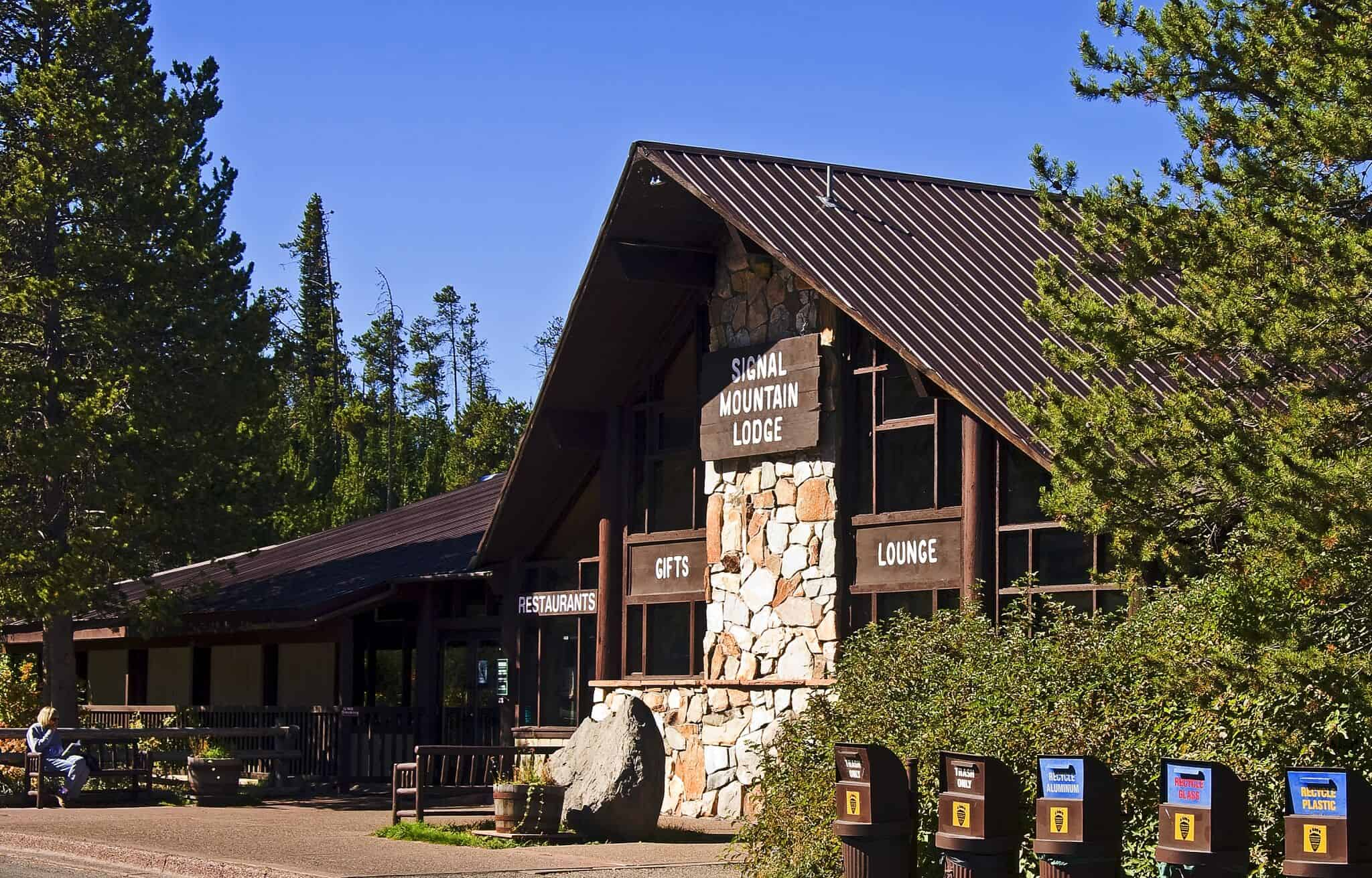 Jackson Lake Lodge has a authentic western lodge style but inside it is very grand.